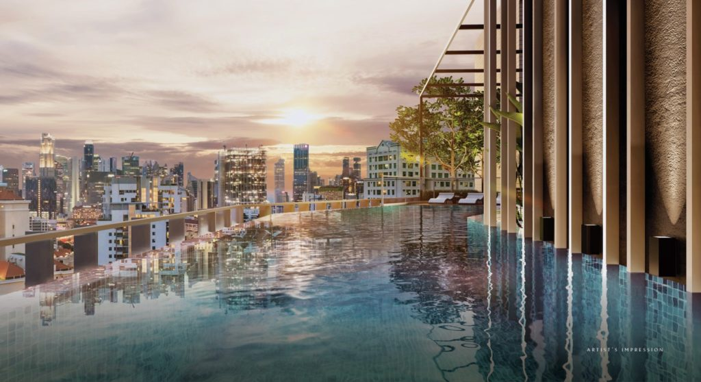 Infinity pool of The Iveria Condo
